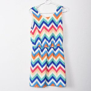 Sugarlips Mulitcolor Chevron Lined Dress